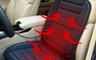 Накидка на сиденье с подогревом: виды устройств и установка