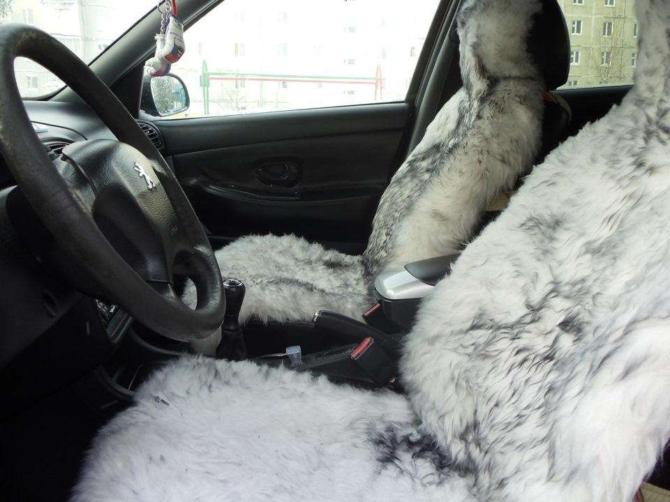 Меховые чехлы в авто