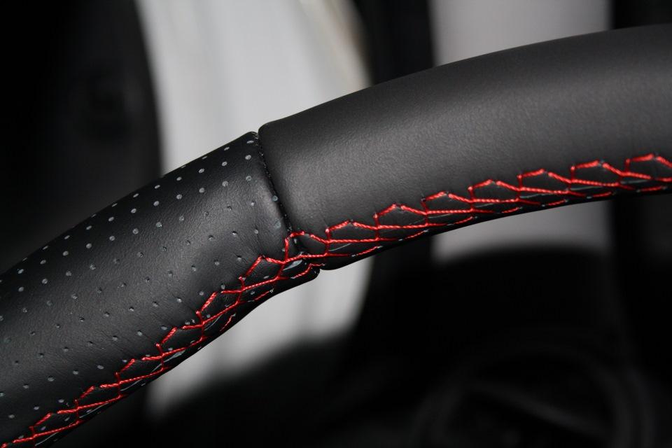 Черная оплетка красная шнуровка