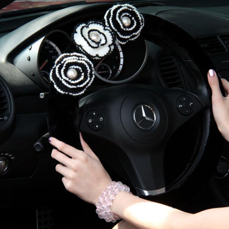Оплетка на руль женская черная