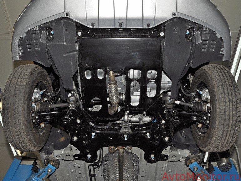 Снятие защиты двигателя