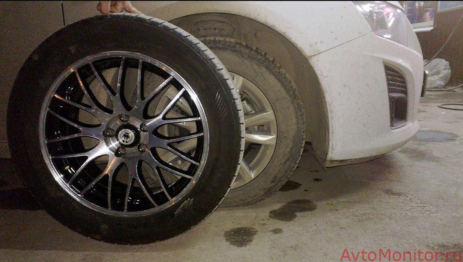 Примерка R 17 колес