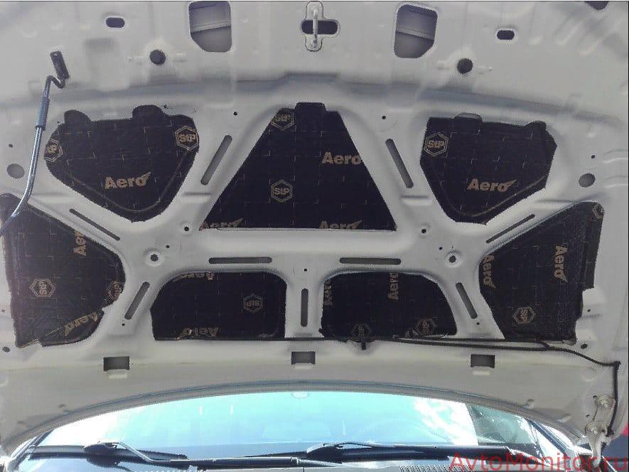 Шумоизоляция капота Chevrolet Cruze