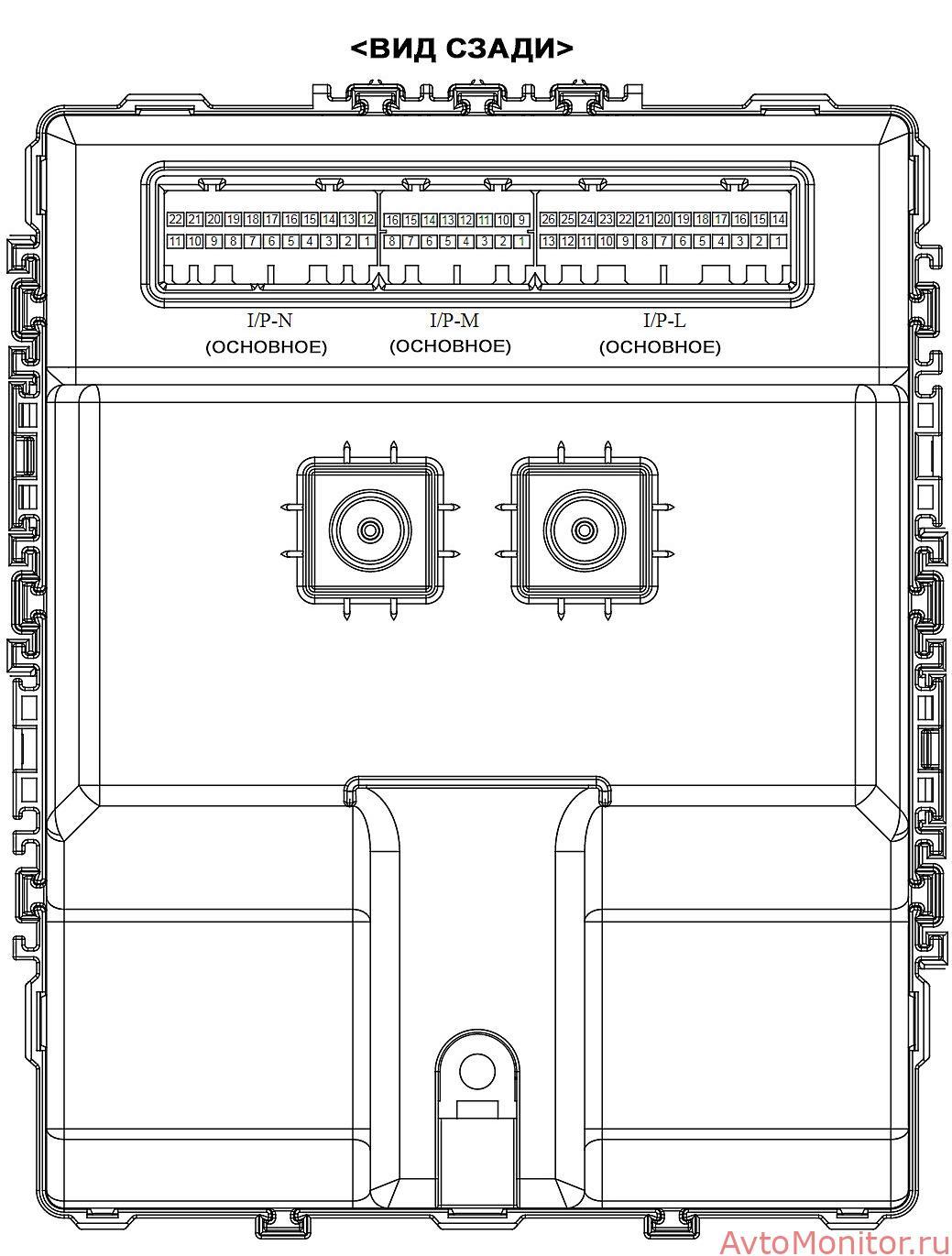 Задняя часть салонного блока Sorento2