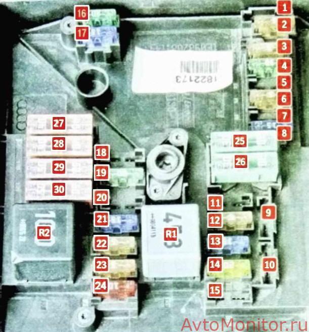 Схема предохранителей под капотом VW Jetta 5