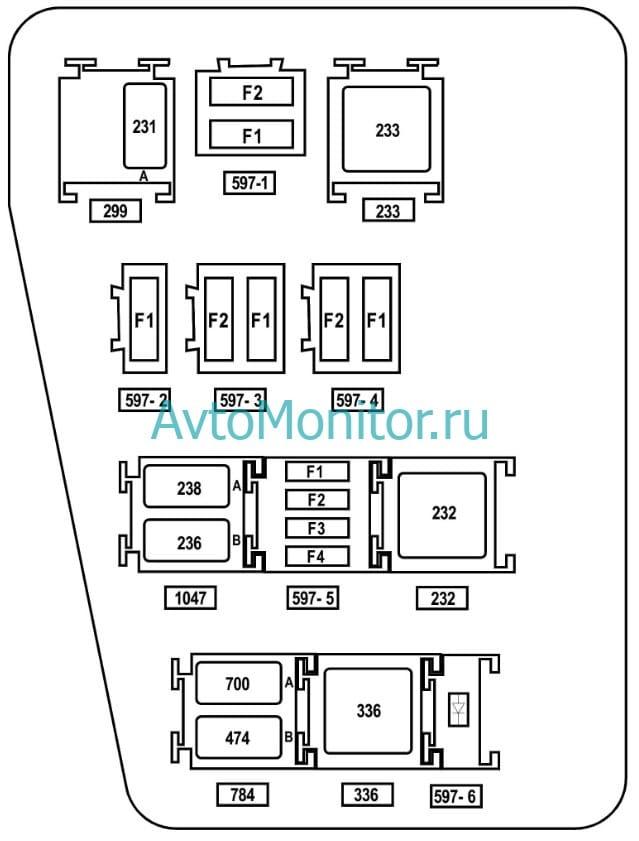 Предохранители и реле двигателя F4R Рено Дастер