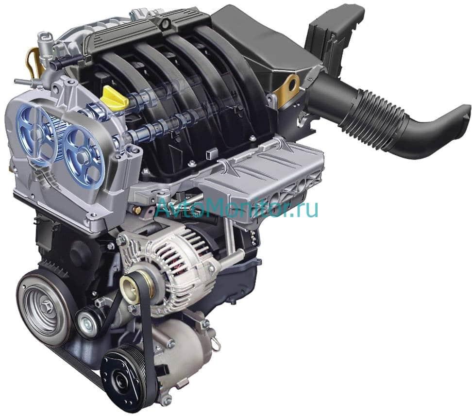 Внешний вид двигателя K4M (бензин 1.6, 16V)