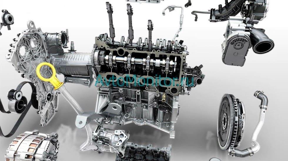 Двигатель H5Ht в разрезе